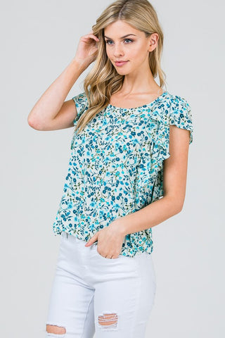 Floral Ruffles Top