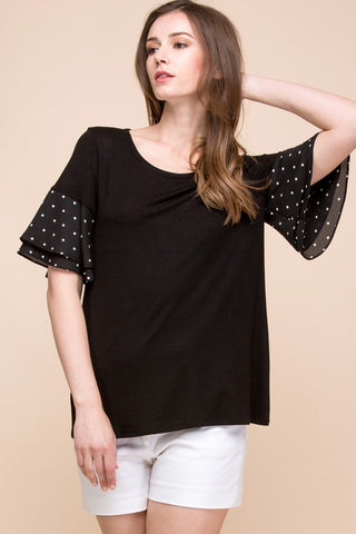 Polka Dot Perfect Sleeve Top