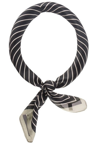 Striped Pattern Bandana Scarf