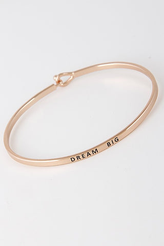 Wear Your Words On Your Sleeve Bracelet- Dream Big in Rose Gold