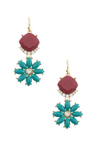 Dangling Daisy Earrings - More Colors Available