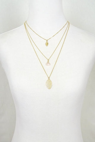Lovely Leaves Necklace - Gold
