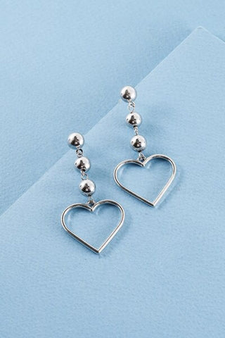 Queen of Hearts Earrings - Silver