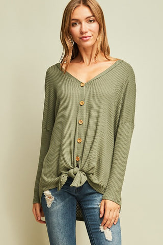 Tie It Up Long Sleeve Top