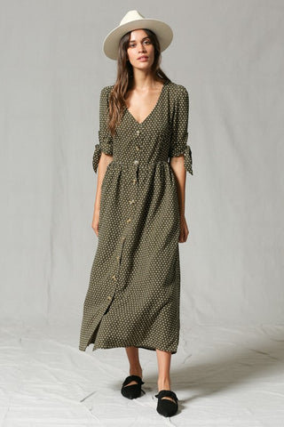 Sweet Dot Midi Dress
