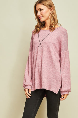 Heathered Thermal Top
