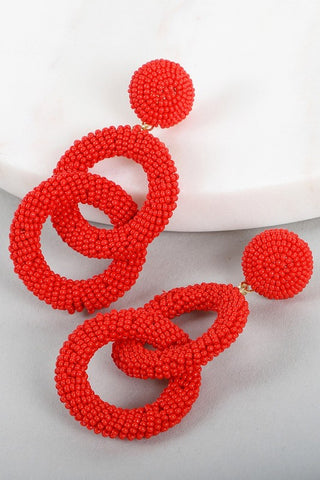 Red Rings Earrings