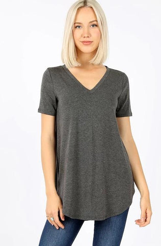 Relaxed Fit Perfect Tee - Charcoal