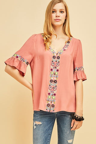 Breezey Boho Button Up