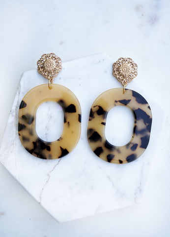 Tortoise Flair Earrings