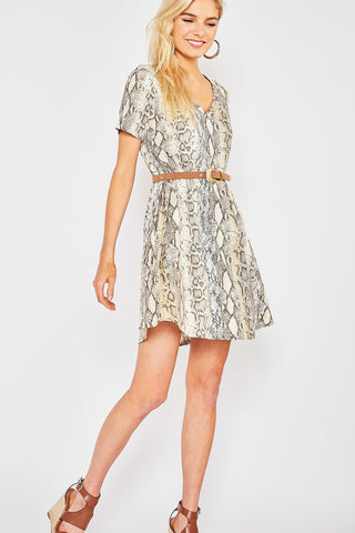Chic in Snakeskin Dress