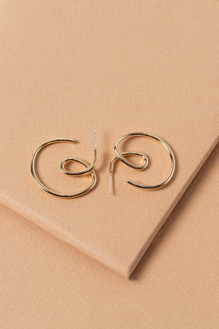 Curly-Q Earrings