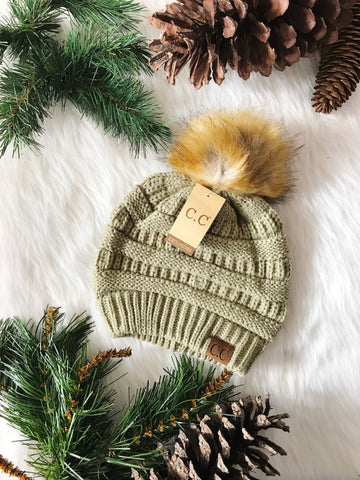 Pom Perfect CC Beanie-New Sage