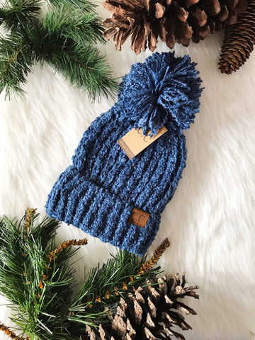 Winter Time CC Beanie- Dark Denim