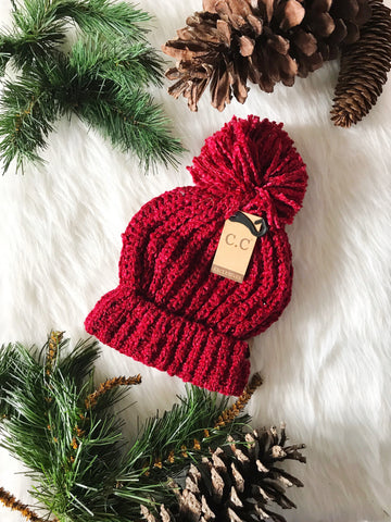 Winter Time CC Beanie- Burgundy
