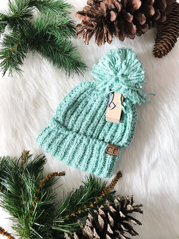Winter Time CC Beanie- Mint