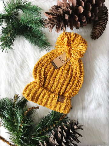 Winter Time CC Beanie- Mustard