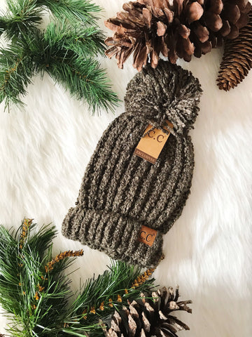 Winter Time CC Beanie- New Olive