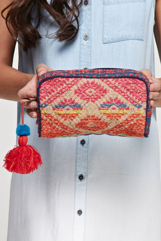 Stitched With Love Bags- Navy Multi