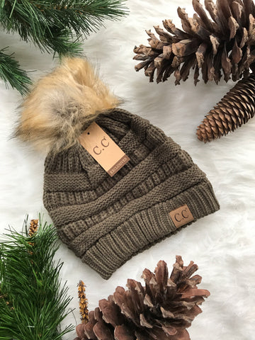 Pom Perfect CC Beanie-New Olive