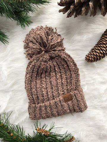 Winter Time CC Beanie- Taupe