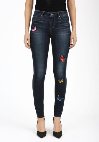 Butterfly Patch Skinnies