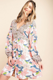 Mixed Florals Dress