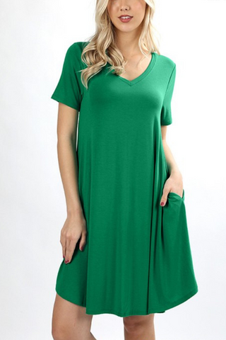 Must Have A-Line Dress -More Colors Available