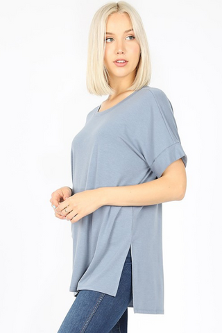 Roll Sleeve Essential Tee-More Colors Available