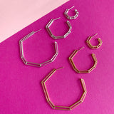 "18K Gold Plated Brass ""Strength Hoops"" - Large"