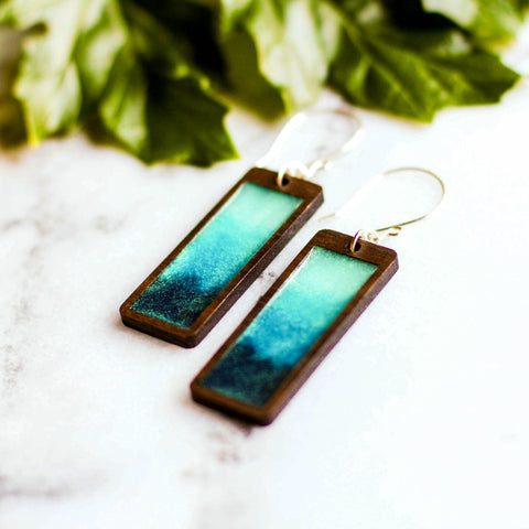 No Man's Land Artifacts - Storm Rectangle Earrings
