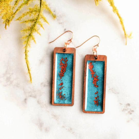 No Man's Land Artifacts - Copper Skies Earrings