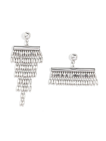 Asymmetrical Fringe Earrings