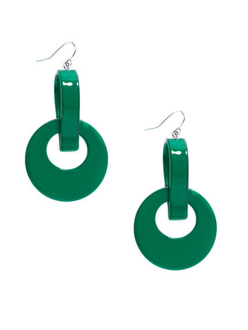 Round Resin Door Knocker Earring-More Colors Available