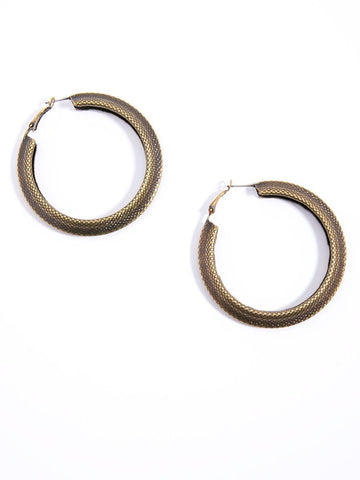 Pattern Perfect Hoop Earring