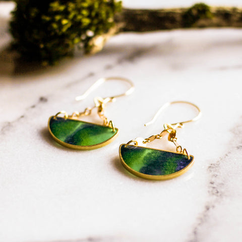 No Man's Land Artifacts - Mood Swings Brass Earrings - Borealis