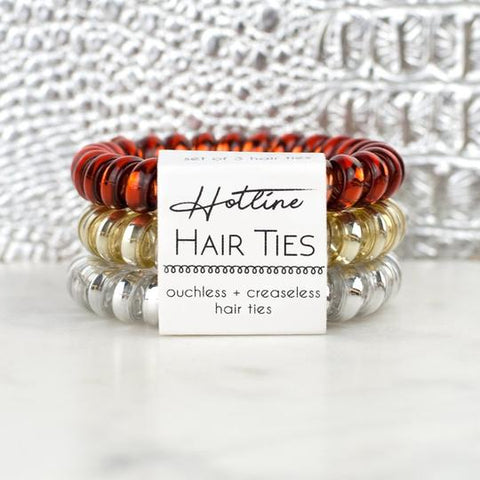 Hotline Hair Tie- Fire & Gold Set