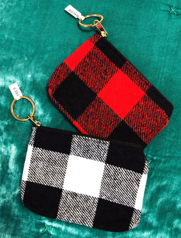Put Together Plaid Keychain - Red