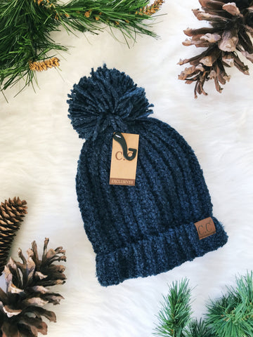Winter Time CC Beanie- Navy