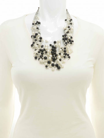 Floating Beauty Bib Necklace