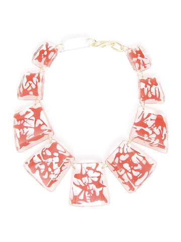 Paint Splatter Necklace-Red