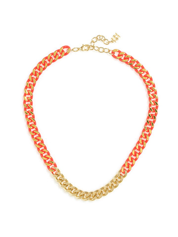Color & Chain Necklace