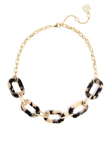 Tortoise Oval Links Necklace