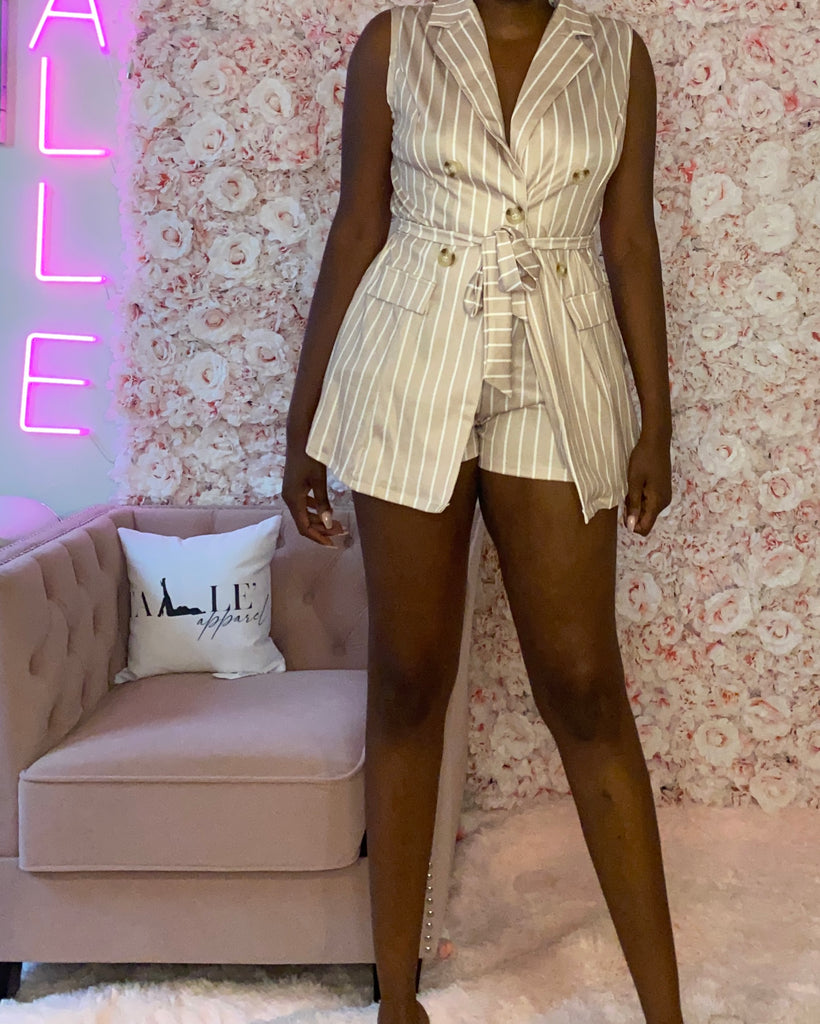 Tracy Khaki Short Set