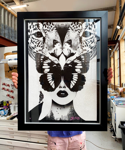 Diamond Dust Leopardess (framed)