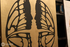 Cykochik Cutout Butterfly Wings Silhouette Faces