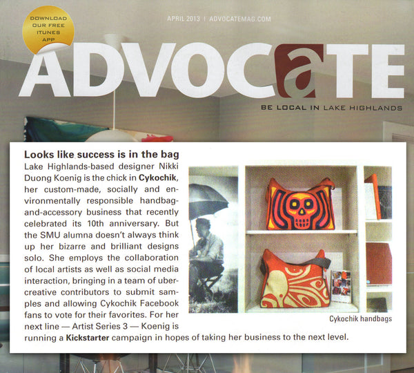 Advocate Magazine – April, 2013