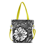 """Botanica"" Vegan Tote/Crossbody Bag design by Dallas artist Jody Pham (Multicolored)"
