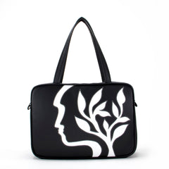 """Silhouette"" Vegan Large Tote – Design by Dallas Artist Jody Pham (Multicolored)"