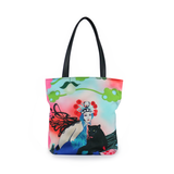 """Kabuki Gravel"" Vegan Tote - Design by Dallas Artist Patricia Rodriguez (Multicolored )"